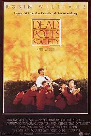 1989 Dead Poets Society movie poster